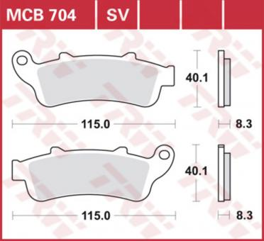 TRW Bremsbelag SRM – SINTER SCOOTER MCB704SRM