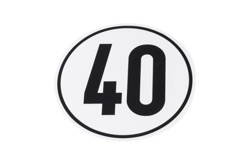 Aufkleber 40 km/h