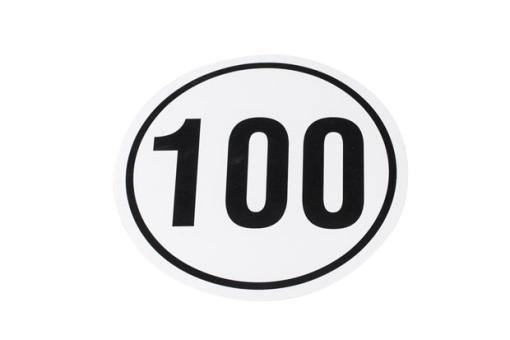 Aufkleber 100 km/h