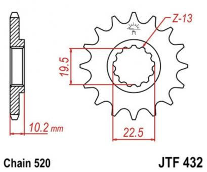AFAM Kettenritzel 22303SC-15