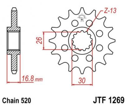 AFAM Kettenritzel 20608-15