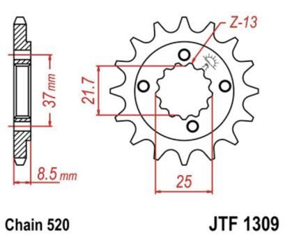 AFAM Kettenritzel 20510-15