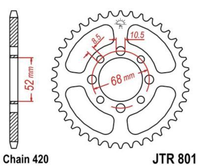 JT SPROCKET Kettenrad JTR801-44