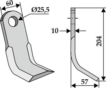 Schlegelmähermesser 60 mm