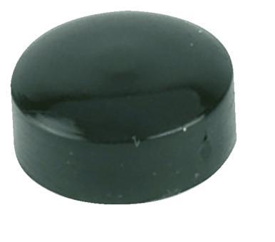 Abdeckkappe für Nummernschild-Blechschrauben schwarz