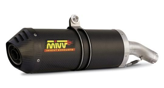 MIVV Slip-On Schalldämpfer Oval Carbon HONDA HORNET 600 2003 - 2005